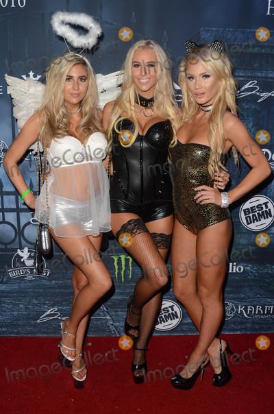 Photo - Bri Teresi, Katie Teresi, Liv Jaeger at the 2016 Maxim Halloween Party, Shrine Auditorium, Los Angeles, CA 10-22-16