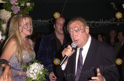 """Andrew Dice Clay, Rodney Dangerfield, Andrew """"Dice"""" Clay, Andrew 'Dice' Clay Photo -  Andrew Dice Clay, Rodney Dangerfield and Joan Child at the premiere of My 5 Wives in Santa Monica. 08-28-00"""