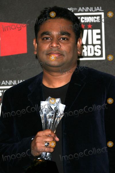 A.R. Rahman, AR Rahman Photo - A.R. Rahman at the 16th Annual Critics' Choice Movie Awards Press Room, Hollywood Palladium, Hollywood, CA. 01-14-11