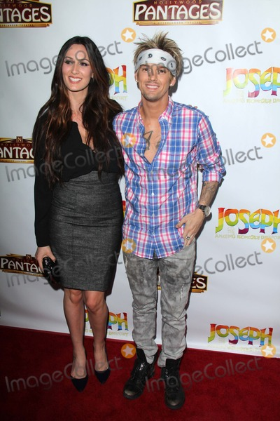 """Aaron Carter, Joseph Corré Photo - Angel Carter, Aaron Carter at the """"Joseph And The Amazing Technicolor Dreamcoat"""" Opening, Pantages, Hollywood, CA 06-04-14"""