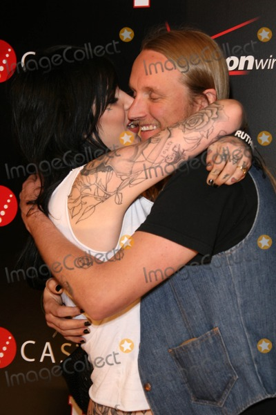 """Alex """"Orbi"""" Orbison, Alex """"Orbi"""" Orbison, Alex Orbi Orbison, Kat Von D, Orbi Orbison, """"Orbi"""" Orbison, Timbaland Photo - Kat Von D and Alex 'Orbi' Orbison at the Verizon Wireless And People party honoring Grammy Nominee Timbaland. Avalon Hollywood, Hollywood, CA. 02-08-08"""