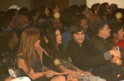 Ashton Kutcher, Demi Moore, Penelope Cruz, Penelope  Cruz Photo - Penelope Cruz with Demi Moore and Ashton Kutcherinside at the 2006 GM TEN Fashion Show. Paramount Studios, Hollywood, CA. 02-20-07