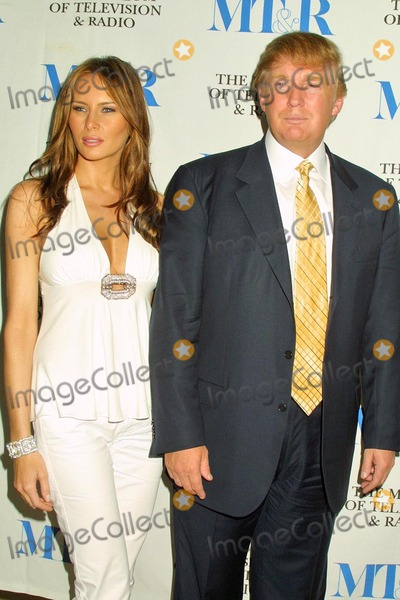 "Melania Knauss, Donald Trump, The Producers Photo - Melania Knauss and Donald Trump at the Conversation with the Producers of ""The Apprentice"" at the Museum of Television & Radio, Beverly Hills, CA. 09-20-04"
