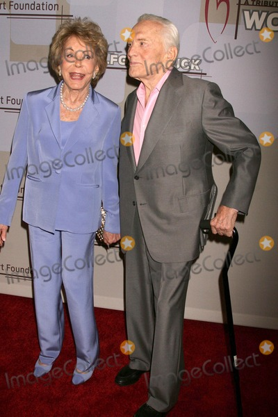 Anne Buydens, Kirk Douglas, Puck, Wolfgang Puck Photo - Anne Buydens and Kirk Douglas at the Heart Foundation gala honoring Wolfgang Puck. The Beverly Wilshire Hotel, Beverly Hills, CA. 05-30-09