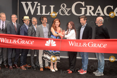 "Debra Messing, James Burrows, Megan Mullally, Sean Hayes Photo - Sean Hayes, Debra Messing, Megan Mullally, Eric McCormack, James Burrows at the ""Will & Grace"" Start of Production Kick Off Event, Universal Studios, Universal City, CA 08-02-17"