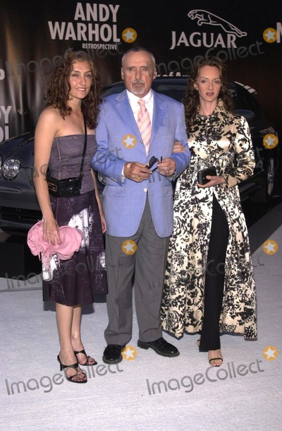 Dennis Hopper, Andy Warhol Photo - Dennis Hopper with wife and daughter at the Museum of Contemporary Art's opening gala for their Andy Warhol exhibit, Los Angeles, 05-22-02