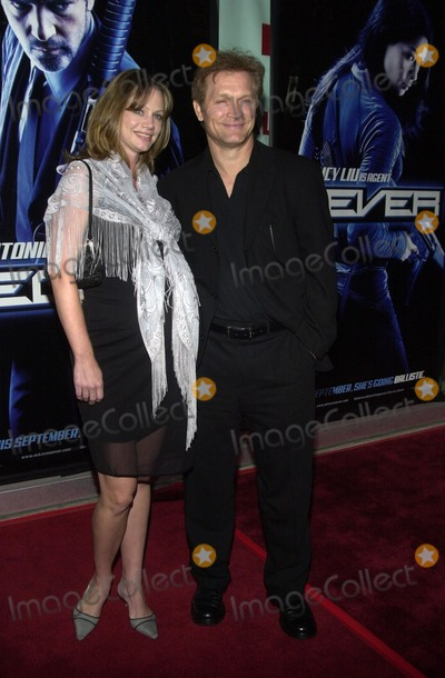 """Andrew Stevens, Robyn Photo - Andrew Stevens and wife Robyn at the premiere of Warner Bros. """"Ballistic: Ecks Vs. Sever"""" premiere at the Cinerama Dome, Hollywood, 09-18-02"""