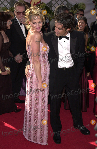 Melanie Griffith, Antonio Banderas, Melanie Griffiths Photo -  Melanie Griffith & Antonio Banderas at the Primetime Emmy Awards held at the Shrine Auditorium. 09-10-00