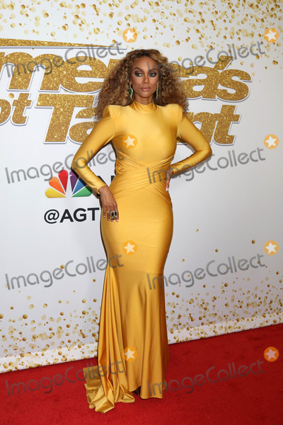 "Photo - Tyra Banks at the ""America's Got Talent"" Season 13 Live Show Red Carpet, Dolby Theater, Hollywood, CA 08-14-18"