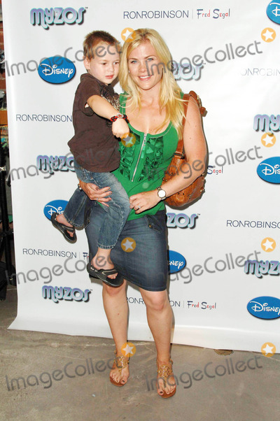 Alison Sweeney, Fred Segal Photo - Alison Sweeney and son Benjamin