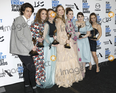 Olivia Wilde, Kaitlyn Dever, Susanna Fogel, Billie Lourd, Beanie Feldstein, Billie Lourde Photo - LOS ANGELES - FEB 8:  Chelsea Barnard, Susanna Fogel, Katie Silberman, Olivia Wilde, Kaitlyn Dever, Beanie Feldstein, Billie Lourd at the 2020 Film Independent Spirit Awards at the Beach on February 8, 2020 in Santa Monica, CA