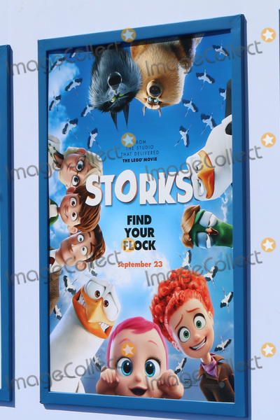 "Photo - LOS ANGELES - SEP 17:  Storks Poster at the ""Storks"" Premiere at the Village Theater on September 17, 2016 in Westwood, CA"