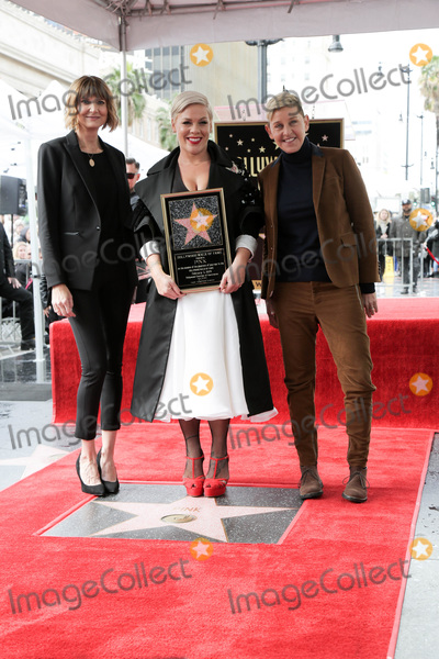 Ellen De Generes, Kerri Kenney, Kerri Kenney Silver, Kerri Kenney-Silver, Pink Photo - LOS ANGELES - FEB 5:  Kerri Kenney-Silver, Pink, Ellen DeGeneres at the Pink Star Ceremony on the Hollywood Walk of Fame on February 5, 2019 in Los Angeles, CA