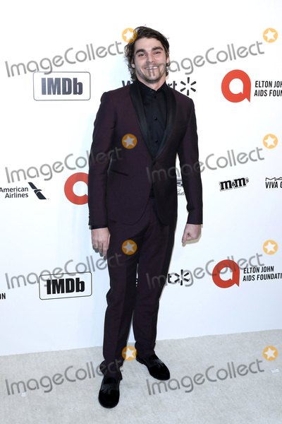 Elton John, RJ Mitte Photo - LOS ANGELES - FEB 9:  RJ Mitte at the 28th Elton John Aids Foundation Viewing Party at the West Hollywood Park on February 9, 2020 in West Hollywood, CA