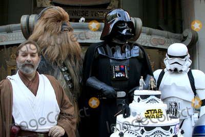 Chewbacca, Darth Vader, STORM TROOPER, Shawn Crosby Photo - LOS ANGELES - DEC 17:  Obi Shawn Crosby, Chewbacca, Darth Vader, Storm Trooper at the Australian Star Wars fans get married in a Star Wars-themed wedding at the TCL Chinese Theater on December 17, 2015 in Los Angeles, CA