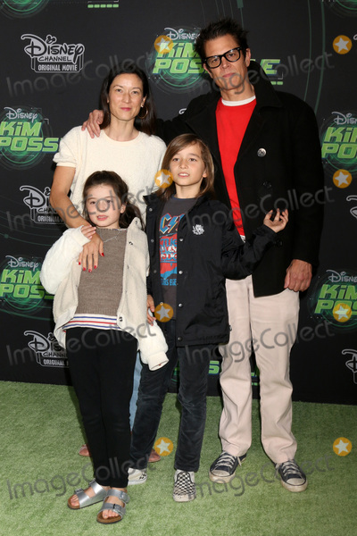 """Johnny Knoxville Photo - LOS ANGELES - FEB 12:  Johnny Knoxville, Family at the """"Kim Possible"""" Premiere Screening at the TV Academy on February 12, 2019 in Los Angeles, CA"""