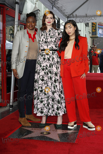 Anne Hathaway, Dee Rees, Ann Hathaway Photo - LOS ANGELES - MAY 9:  Dee Rees, Anne Hathaway, Awkwafina at the Anne Hathaway Star Ceremony on the Hollywood Walk of Fame on May 9, 2019 in Los Angeles, CA