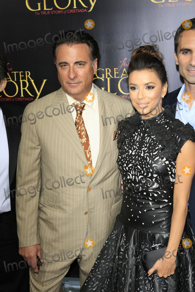 """Andy Garcia, Eva Longoria, Eva Herzigová Photo - LOS ANGELES - MAY 31:  Andy Garcia, Eva Longoria arriving at the """"For Greater Glory"""" Premiere at AMPAS Theater on May 31, 2012 in Beverly Hills, CA"""