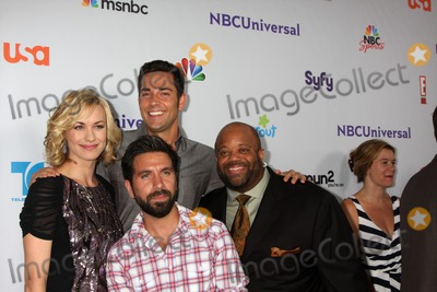 Christopher Lawrence, Gomez, Joshua Gomez, Mark Christopher, Yvonne Strahovski, Zach Levi, Mark CHRISTOPHE Lawrence, Christophe Honoré, Teairra Marí Photo - LOS ANGELES - AUG 1:  Yvonne Strahovski, Zach Levi, Mark Christopher Lawrence, Joshua Gomez (front) arriving at the NBC TCA Summer 2011 Party at SLS Hotel on August 1, 2011 in Los Angeles, CA