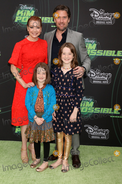 "Alexis Denisof, Alyson Hannigan Photo - LOS ANGELES - FEB 12:  Alyson Hannigan, Keeva Jane Denisof, Satyana Marie Denisof, Alexis Denisof at the ""Kim Possible"" Premiere Screening at the TV Academy on February 12, 2019 in Los Angeles, CA"