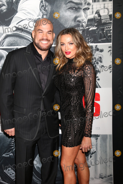 """Tito Ortiz, Amber Miller Photo - LOS ANGELES - JAN 17:  Tito Ortiz, Amber Miller at the """"Den of Thieves"""" Premiere at Regal LA Live Theaters on January 17, 2018 in Los Angeles, CA"""