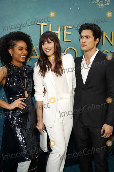 """Yara Shahidi, Ry Russo-Young, Charles Melton Photo - LOS ANGELES - MAY 13:  Yara Shahidi, Ry Russo-Young, Charles Melton at the """"The Sun Is Also A Star"""" World Premiere at the Pacific Theaters at the Grove on May 13, 2019 in Los Angeles, CA"""