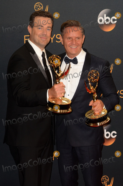 Carson Daly, Mark Burnett Photo - LOS ANGELES - SEP 18:  Carson Daly, Mark Burnett at the 2016 Primetime Emmy Awards - Press Room at the Microsoft Theater on September 18, 2016 in Los Angeles, CA