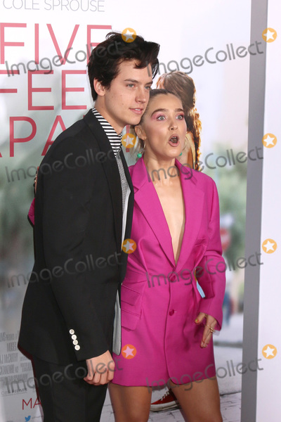 """Cole Sprouse Photo - LOS ANGELES - MAR 7:  Cole Sprouse, Haley Lu Richardson at the """"Five Feet Apart"""" Premiere at the Bruin Theater on March 7, 2019 in Westwood, CA"""