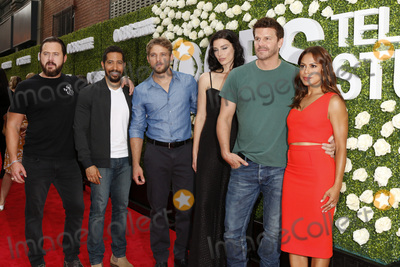 AJ Buckley, David Boreanaz, Jessica Pare, Max Thieriot, Toni Trucks Photo - LOS ANGELES - AUG 1:  Aj Buckley, Neil Brown Jr, Max Thieriot, Jessica Pare, David Boreanaz, Toni Trucks at the CBS TV Studios Summer Soiree TCA Party 2017 at the CBS Studio Center on August 1, 2017 in Studio City, CA