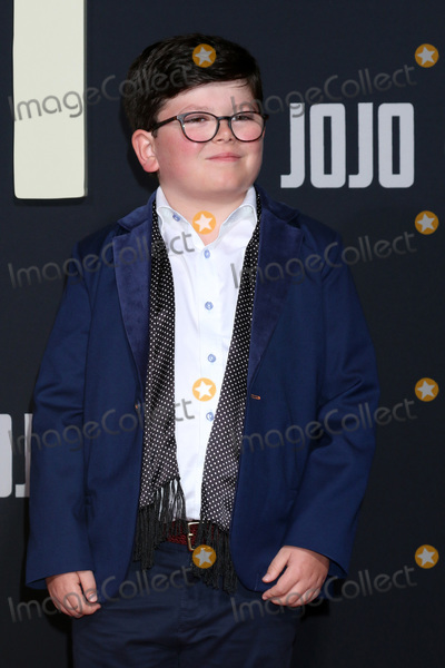 """JoJo, Archie Yates, Archie Yate Photo - LOS ANGELES - OCT 15:  Archie Yates at the """"Jojo Rabbit"""" Premiere at the American Legion Post 43 on October 15, 2019 in Los Angeles, CA"""