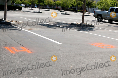 Chili, San Bernardino Photo - LOS ANGELES - APR 11:  Chili's Numbered Parking Spots for Curbside Pick-up at the Businesses reacting to COVID-19 at the Hospitality Lane on April 11, 2020 in San Bernardino, CA