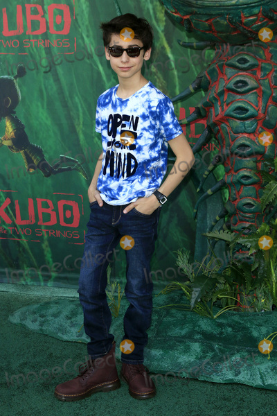 """Gallagher, Aidan Gallagher Photo - LOS ANGELES - AUG 14:  Aidan Gallagher at the """"Kubo and the Two Strings"""" Premiere at the AMC Universal Citywalk on August 14, 2016 in Universal City, CA"""