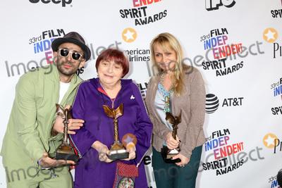 Agnes Varda, Agnès Varda Photo - LOS ANGELES - MAR 3:  JR, Agnes Varda, Rosalie Varda_ at the 2018 Film Independent Spirit Awards at the Beach on March 3, 2018 in Santa Monica, CA