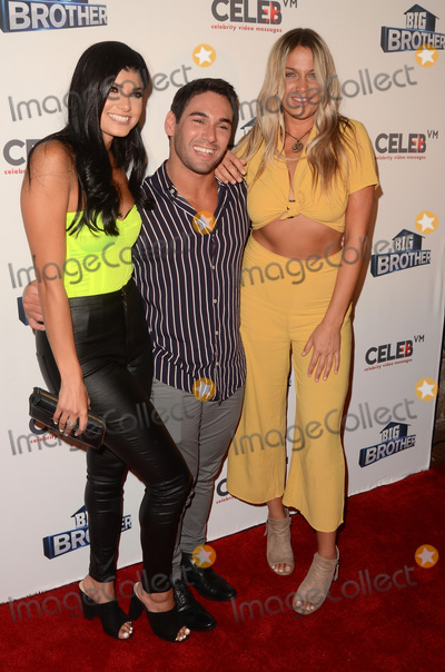 """Analyse Talavera Photo - LOS ANGELES - SEP 26:  Analyse Talavera, Tommy Bracco, Christie Murphy at the """"Big Brother"""" 21 Finale Party at the Edison on September 26, 2019 in Los Angeles, CA"""