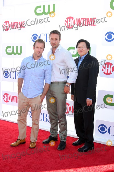 Alex O'Loughlin, Masi Oka, Scott Caan, Scott  Caan Photo - LOS ANGELES - JUL 29:  Scott Caan, Alex O'Loughlin, Masi Oka arrives at the CBS, CW, and Showtime 2012 Summer TCA party at Beverly Hilton Hotel Adjacent Parking Lot on July 29, 2012 in Beverly Hills, CA