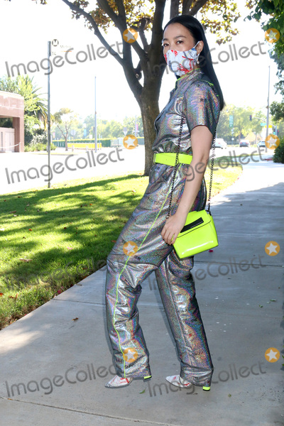 Yi Zhou Photo - LOS ANGELES - JUL 4:  Yi Zhou at the Yi Zhou out and about in outfit, mask, shoes, and accessories by Marcel Von Berlin at the Street on July 4, 2020 in Beverly Hills, CA