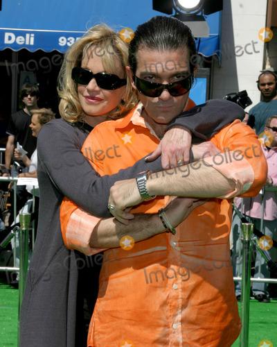 "Antonio Banderas, Melanie Griffith, Melanie Griffiths Photo - Melanie Griffith & Antonio Banderas""Shrek the Third"" LA PremiereMann's Village TheaterWestwood, CAMay 6, 2007"