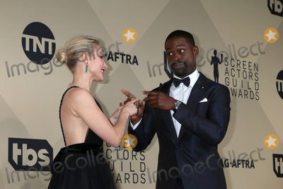 Photo - LOS ANGELES - JAN 21:  Kristen Bell, Sterling K Brown at the 24th Screen Actors Guild Awards - Press Room at Shrine Auditorium on January 21, 2018 in Los Angeles, CA