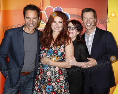 Debra Messing, Megan Mullally, Sean Hayes Photo - LOS ANGELES - AUG 3:  Eric McCormack, Debra Messing, Megan Mullally, Sean Hayes at the NBC TCA Press Day Summer 2017 at the Beverly Hilton Hotel on August 3, 2017 in Beverly Hills, CA