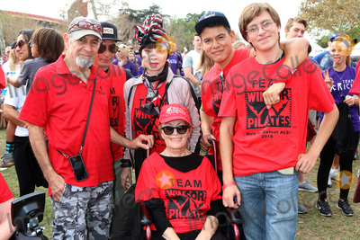Toni Basil Photo - LOS ANGELES - OCT 16:  Mari Winsor (in wheelchair), friends, family and Toni Basil in Stripped headscarf at the ALS Association Golden West Chapter Los Angeles County Walk To Defeat ALS at the Exposition Park on October 16, 2016 in Los Angeles, CA