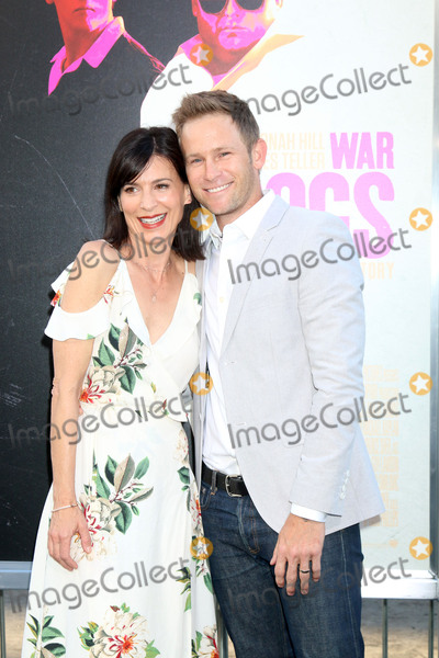 """Perrey Reeves, Perrey Reeves-, Aaron Fox Photo - LOS ANGELES - AUG 15:  Perrey Reeves, Aaron Fox at the War Dogs"""" Premiere at the TCL Chinese Theater IMAX on August 15, 2016 in Los Angeles, CA"""