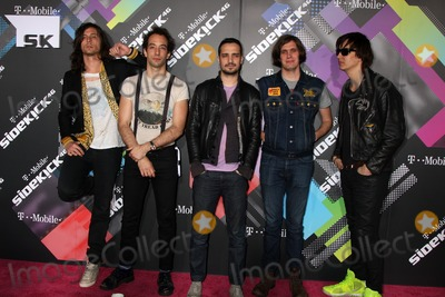 Albert Hammond, Albert Hammond Jr, Albert Hammond Jr., Albert Hammond, Jr., Fabrizio Moretti, Julian Casablancas, Nick Valensi, Nikolai Fraiture, Strokes, The Strokes Photo - LOS ANGELES - APR 20:  Musicians Nick Valensi, Albert Hammond Jr., Fabrizio Moretti, Nikolai Fraiture and Julian Casablancas of The Strokes arriving at the Launch Of The New T-Mobile Sidekick 4G  at Old Robinson/May Building on April 20, 2011 in Beverly Hills, CA