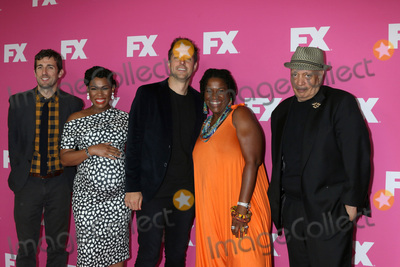 Michael Hyatt, Walter Mosley, Carter Hudson, Angela Lewis, Dave Andron Photo - LOS ANGELES - AUG 6:  Carter Hudson, Angela Lewis, Dave Andron, Michael Hyatt, Walter Mosley at the FX Networks Starwalk at Summer 2019 TCA at the Beverly Hilton Hotel on August 6, 2019 in Beverly Hills, CA