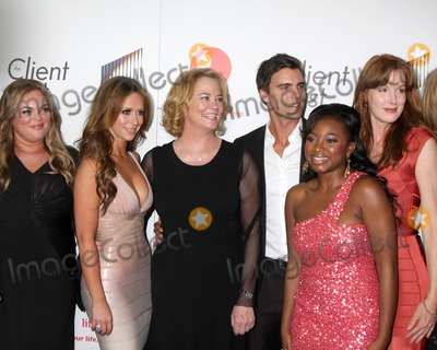 """Cybill Shepherd, Jennifer Love Hewitt, Jennifer Love-Hewitt, Rebecca Field, Cybil Shepherd Photo - LOS ANGELES - APR 4:  Client List Cast including:  Rebecca Field, Jennifer Love Hewitt, Cybill Shepherd arriving at the """"The Client List"""" Launch Party at Sunset Tower Hotel on April 4, 2012 in West Hollywood, CA"""