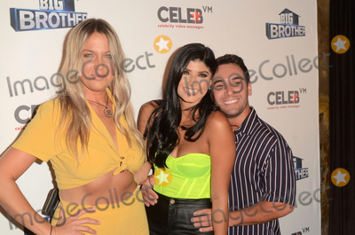"""Analyse Talavera Photo - LOS ANGELES - SEP 26:  Christie Murphy, Analyse Talavera, Tommy Bracco at the """"Big Brother"""" 21 Finale Party at the Edison on September 26, 2019 in Los Angeles, CA"""