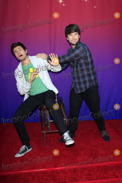 "Ian Hecox, Anthony Padilla Photo - LOS ANGELES - JUL 22:  Anthony Padilla, Ian Hecox, wax figures at the ""SMOSH: THE MOVIE""  Premiere at the Village Theater on July 22, 2015 in Westwood, CA"