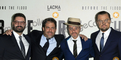 """Brett Ratner, Fisher Stevens Photo - LOS ANGELES - OCT 24:  Tim Pastore, Brett Ratner, Fisher Stevens, Leoardo DiCaprio at the Screening Of National Geographic Channel's """"Before The Flood"""" at Bing Theater At LACMA on October 24, 2016 in Los Angeles, CA"""