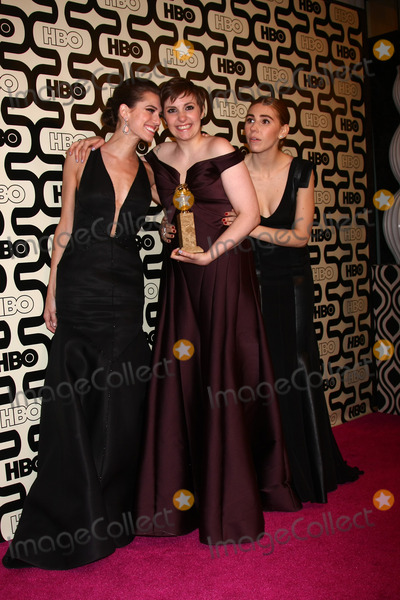 Allison Williams, Lena Dunham, Zosia Mamet Photo - LOS ANGELES - JAN 13:  Allison Williams, Lena Dunham, Zosia Mamet arrives at the 2013 HBO Post Golden Globe Party at Beverly Hilton Hotel on January 13, 2013 in Beverly Hills, CA