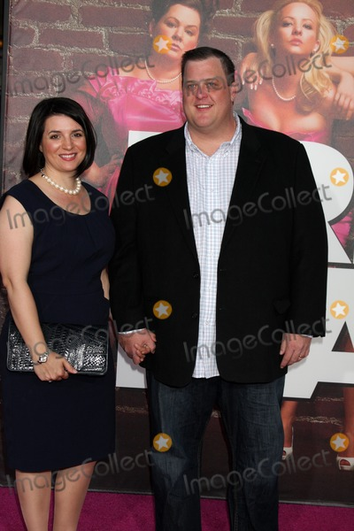 "Billy Gardell Photo - LOS ANGELES - APR 27:  Billy Gardell & Wife arriving at the ""Bridesmaids"" Premiere at Village Theater on April 27, 2011 in Westwood, CA"