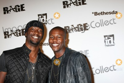 Aldis Hodge, Edwin Hodge, Rage, Aldis Hodges, The Game Photo - LOS ANGELES - SEPT 30:  Aldis Hodge, Edwin Hodge arriving at  the RAGE Game Launch at the Chinatowns Historical Central Plaza on September 30, 2011 in Los Angeles, CA